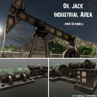 oil jack industrial 3D model