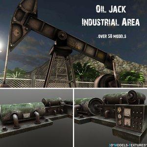 oil jack industrial 3D model