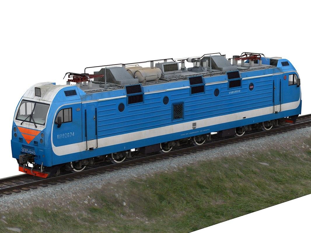 russian passenger electric locomotive 3D model