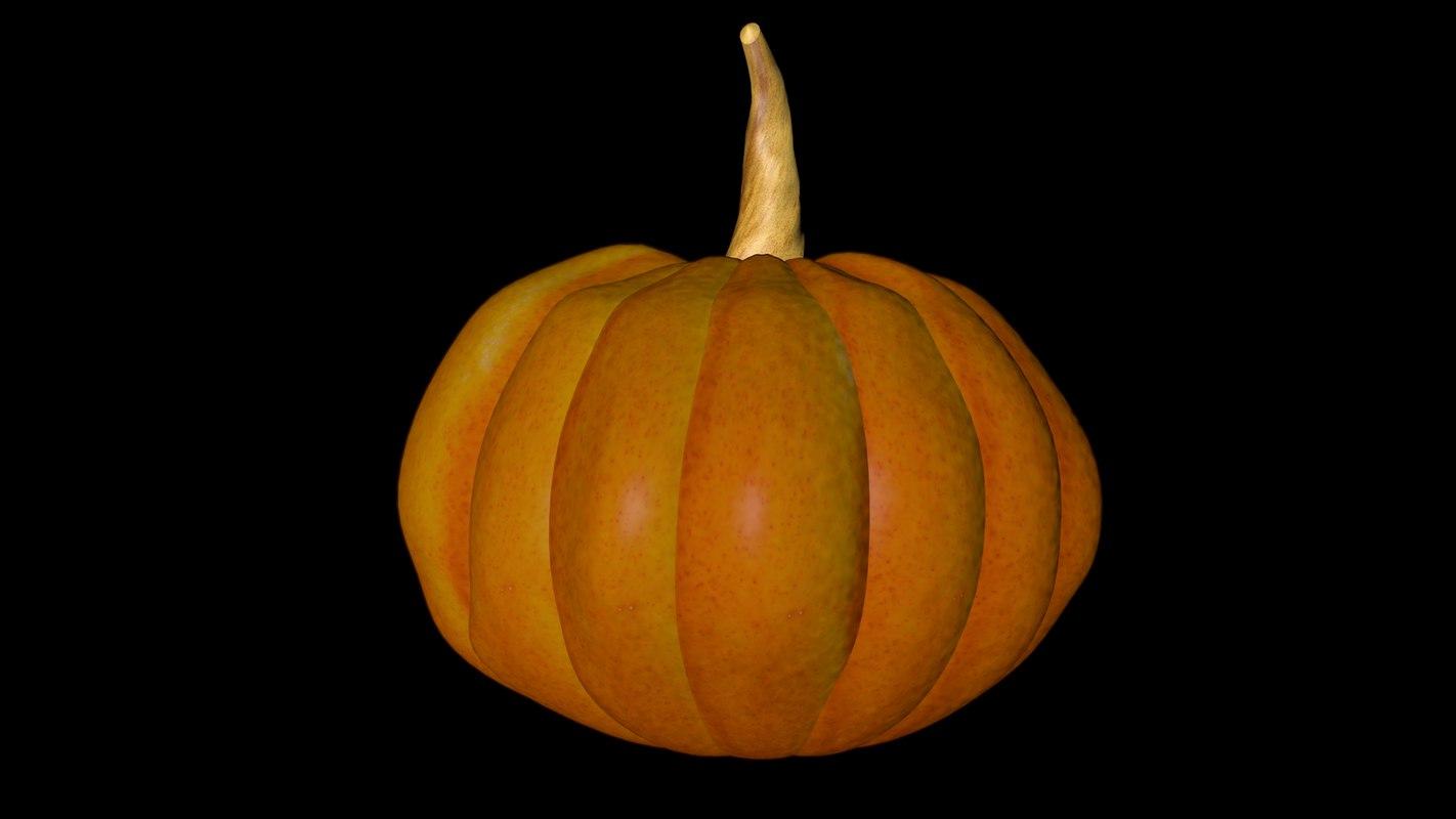 pumpkin vegetables halloween model
