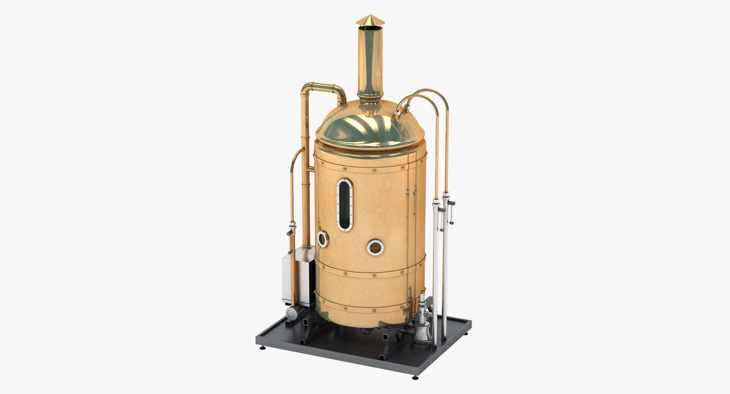 3D model brewing copper