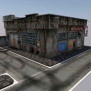 abandoned games ready 3D model