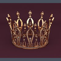 3D golden crown model