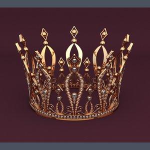 3D golden crown model