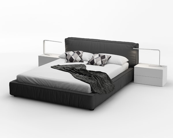 rossetto twist platform bed 3D model