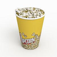 3D cup popcorn corn