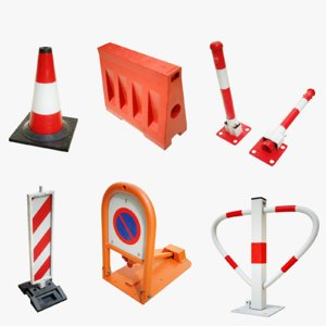 3D traffic safety devices model