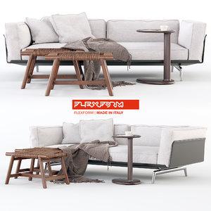 3D flexform este sofa