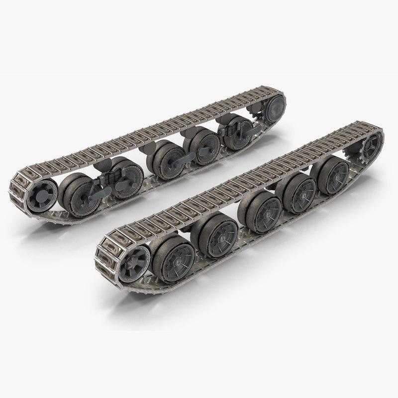 3D tank track pbr model