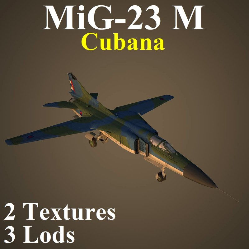 mikoyan cuba fighter 3D model