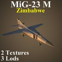 3D mikoyan zim fighter model