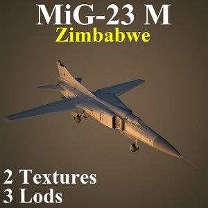 3D mikoyan zim fighter model