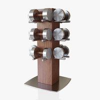 3D model set rack