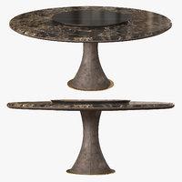 longhi table david 3D model