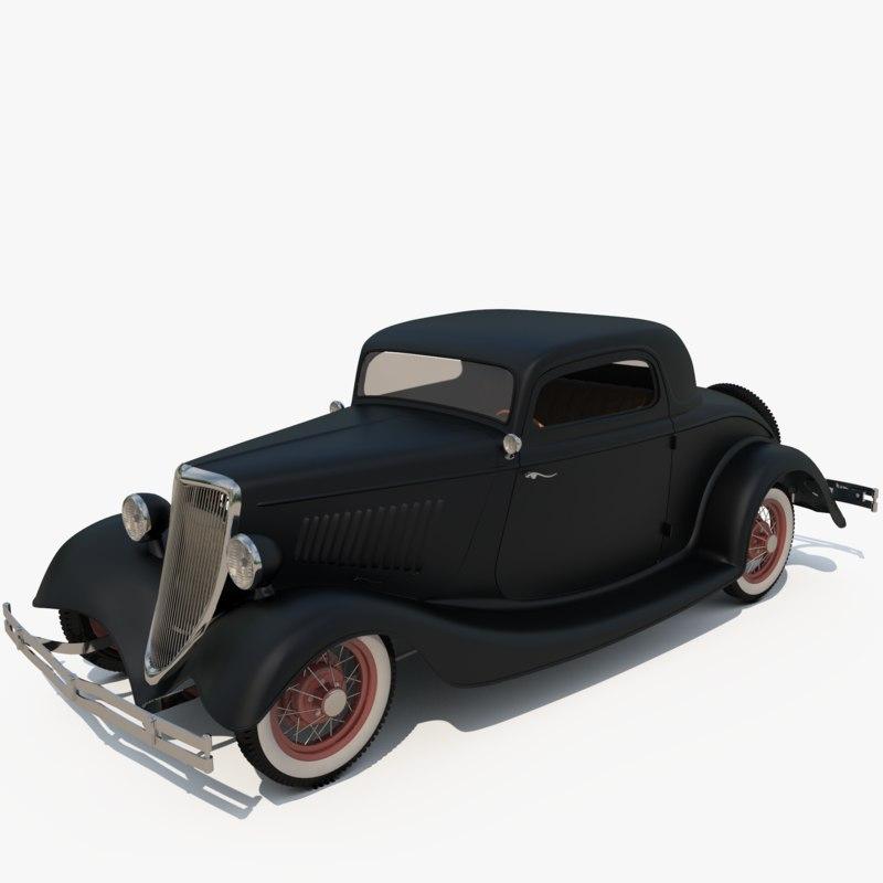 3D 1934 hot rod