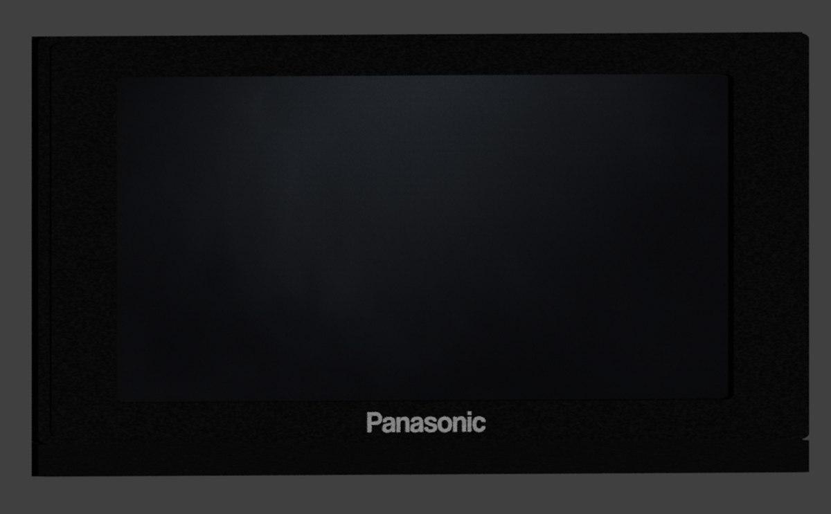 high-poly panasonic viera tv 3D model