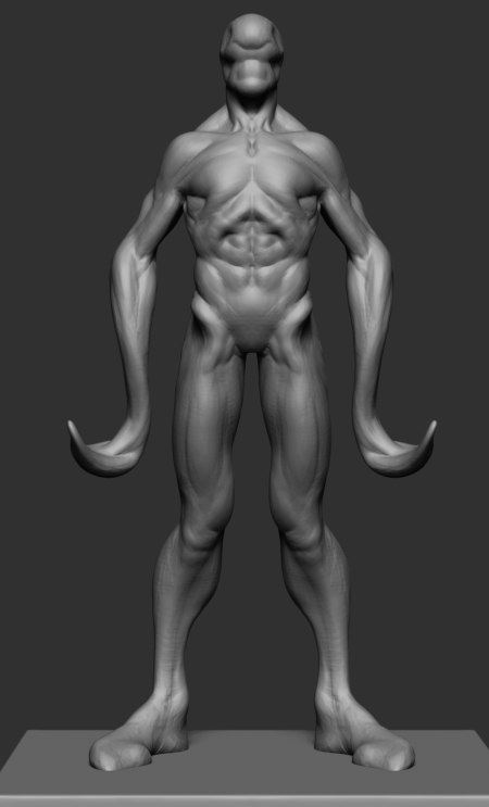 3D creature proportions anatomy