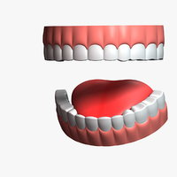cartoon teeth 3D