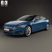 Tesla Model S with HQ interior 2014