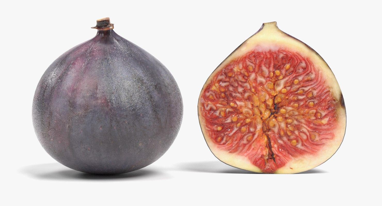 figs fruit pbr 3D model
