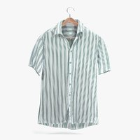 3D model striped shirt