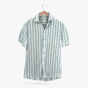 3D model striped shirt
