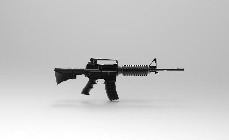 3D m16 weapon