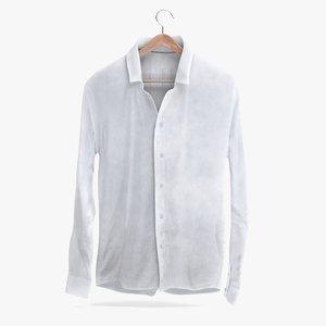 3D white shirt model