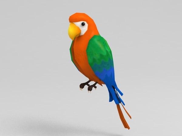 3D model parrot