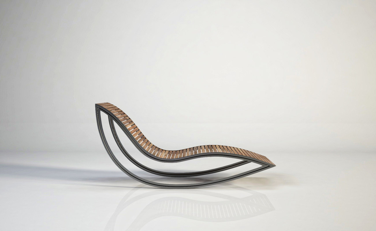 3D model dondola chaise longue