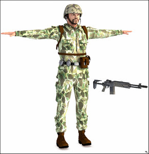 man guy human 3D model