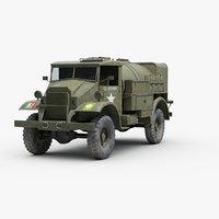 ww2 chevrolet c60s tanker 3D
