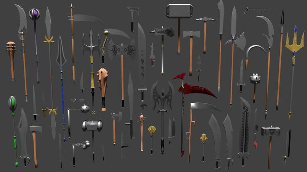 3D weapons pack
