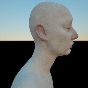 3D model female head pack mia