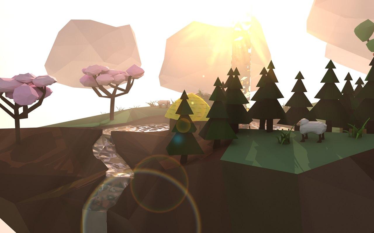 3D floating island model