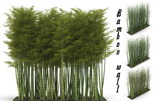 bamboo wall 3D model