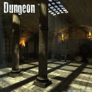old dungeon 3D model
