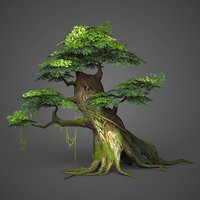 3D ready realistic tree games model
