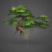 Game Ready Low Poly Tree 07