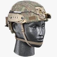 3D combat helmet ballistic model