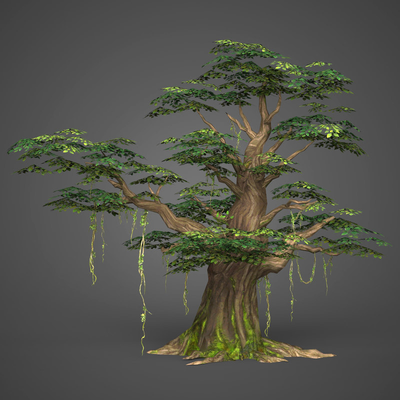 3D model ready realistic tree games