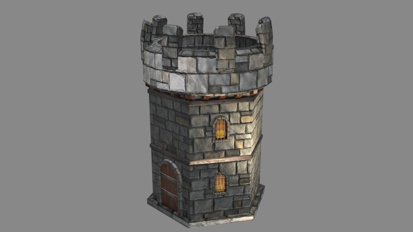 3D asset - battle tower