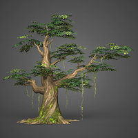 Game Ready Low Poly Tree 11