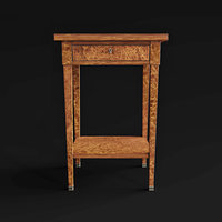 3D empire table early 18th model