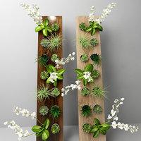 3D flower wood model