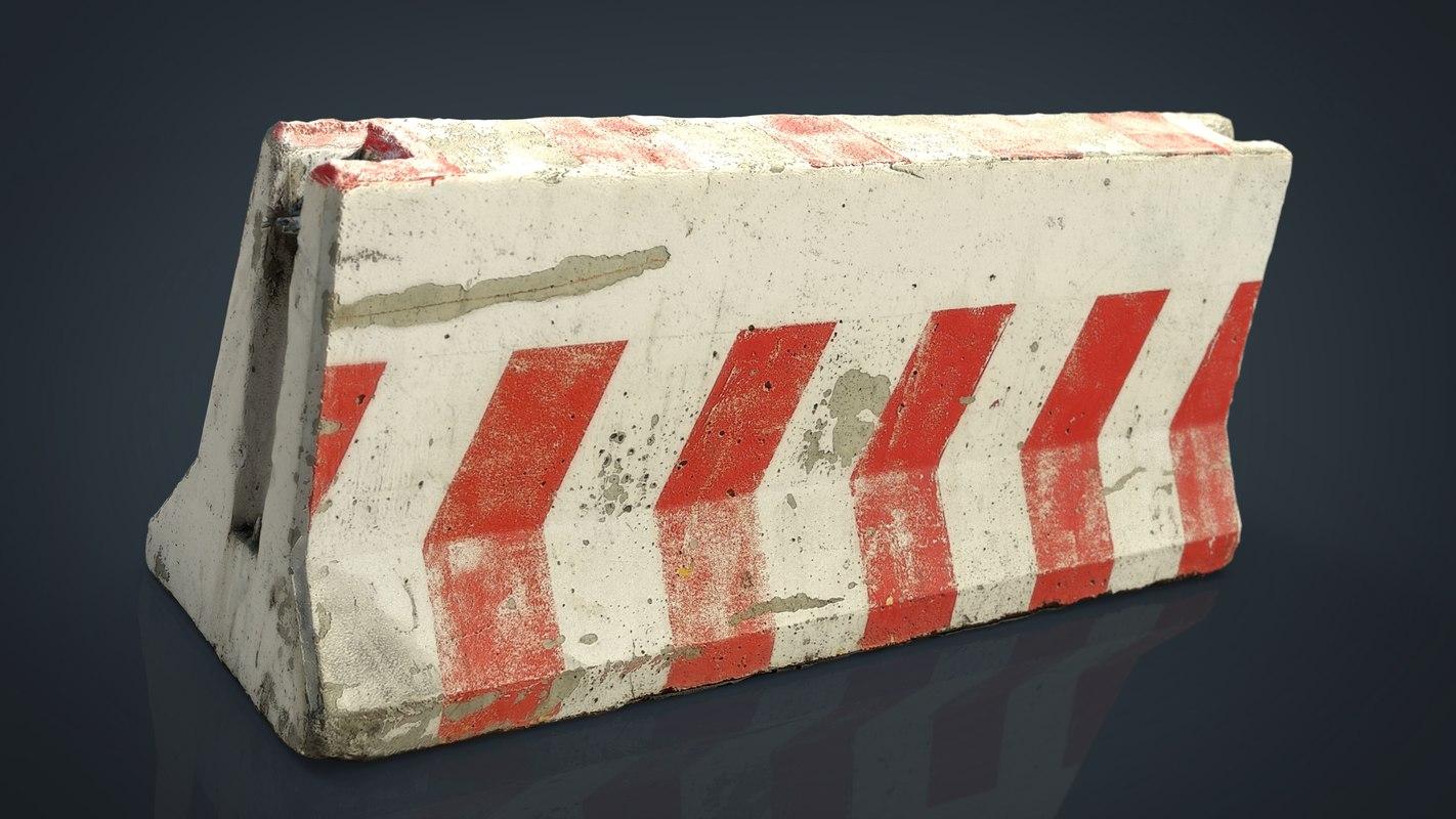 3D model roadblock
