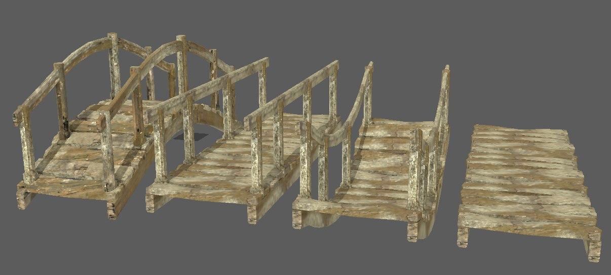 small footbridges 3D model