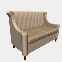 3D sofa cafe bar model