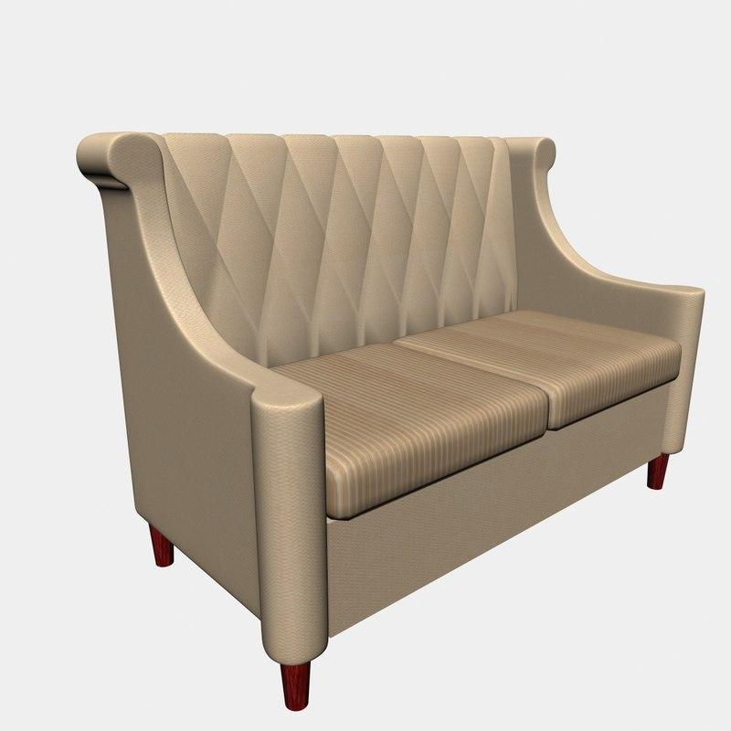 3D sofa cafe bar model