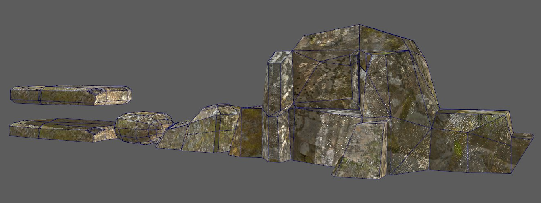 3D set rocks